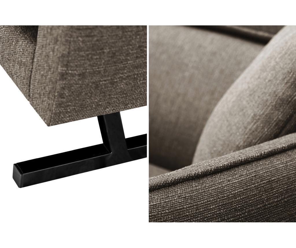 L Officiel Interiors Gigi left chaise longue gigi brown - vivre.eu