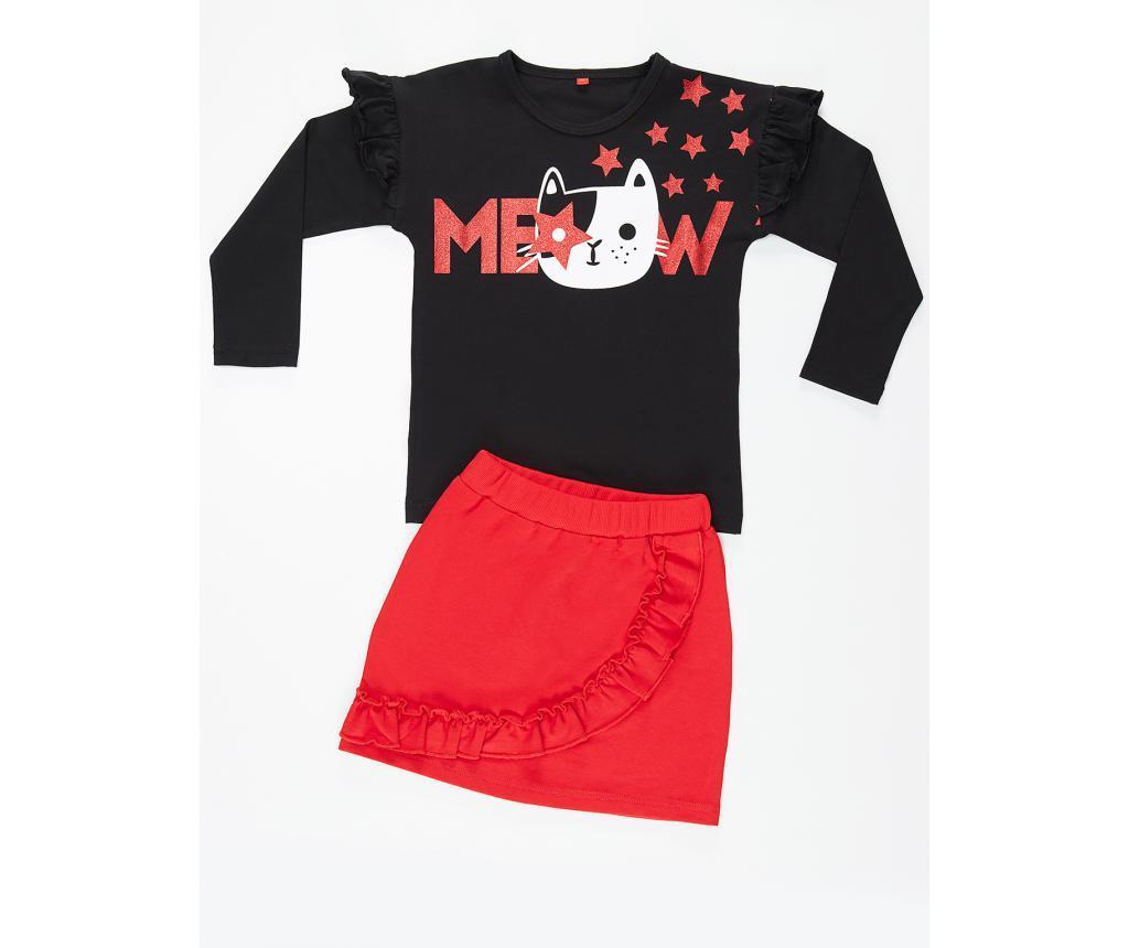 Set bluza si fusta copii Meow 7 ani