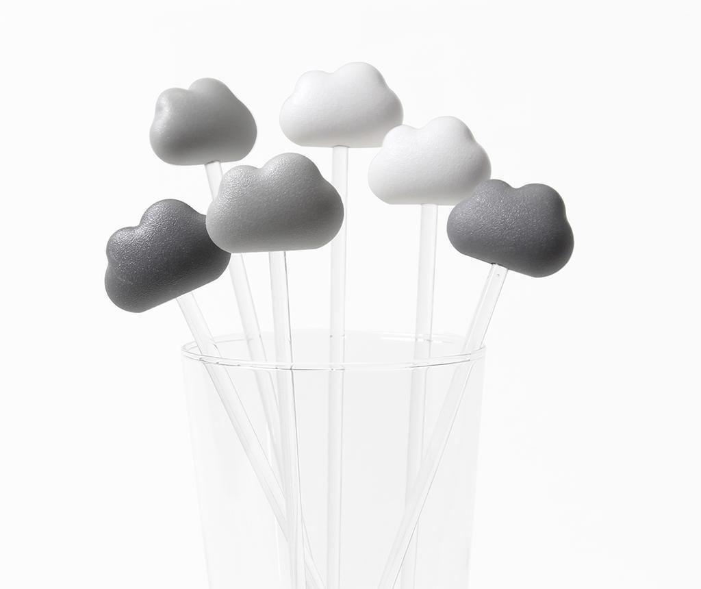 Set 6 agitatoare pentru cocktail Cloud Light