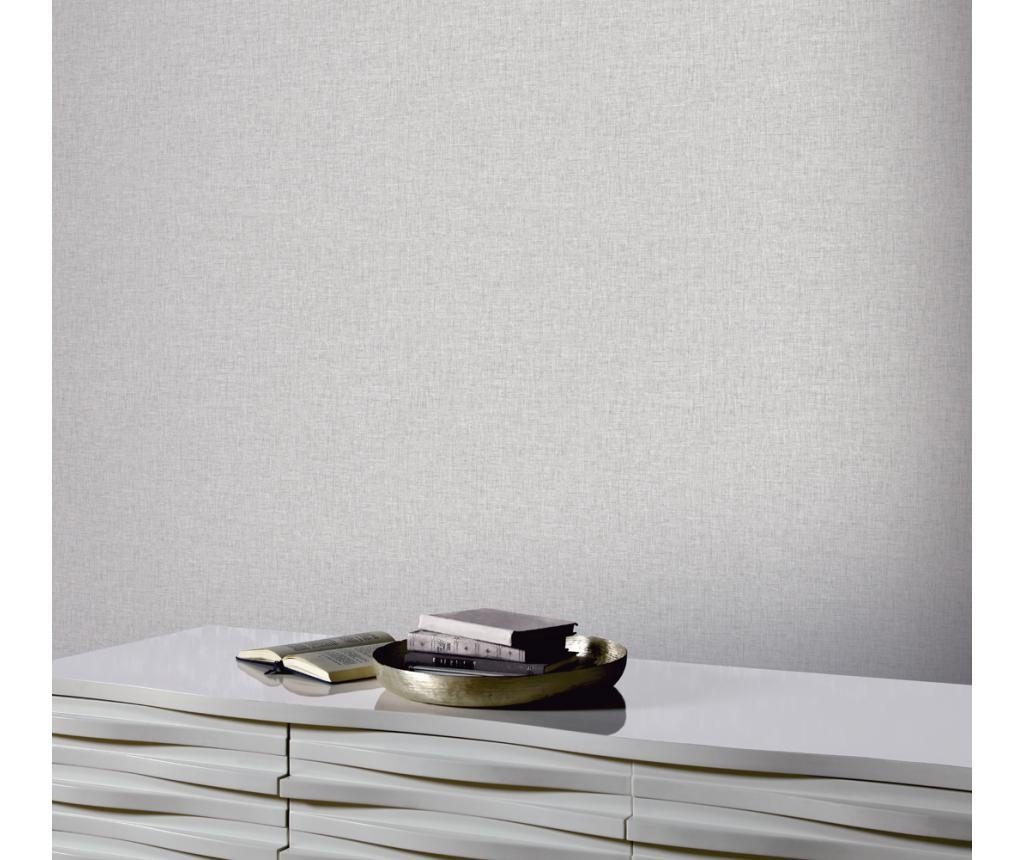 Linen Texture Light Grey Tapéta 53x1005 cm