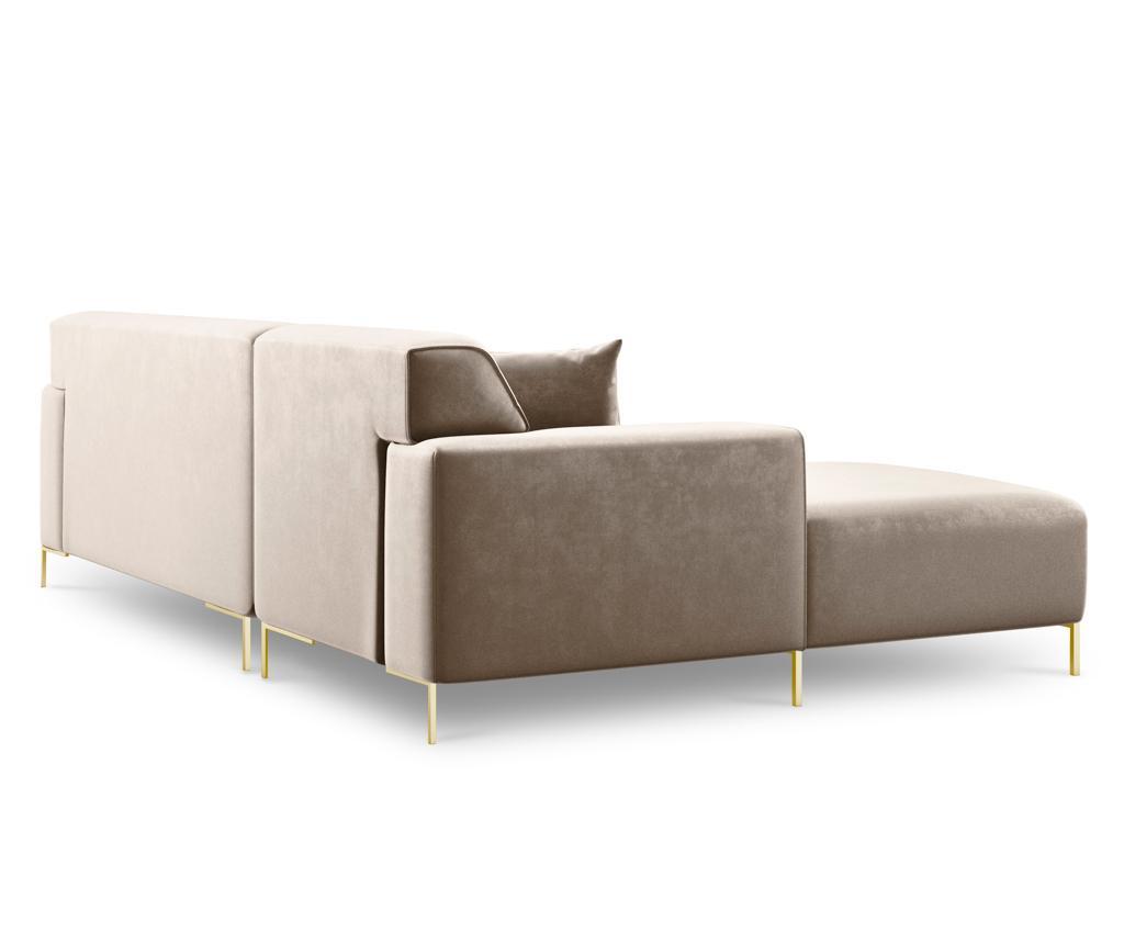 Ljeva kutna sofa četverosjed Modena Cream