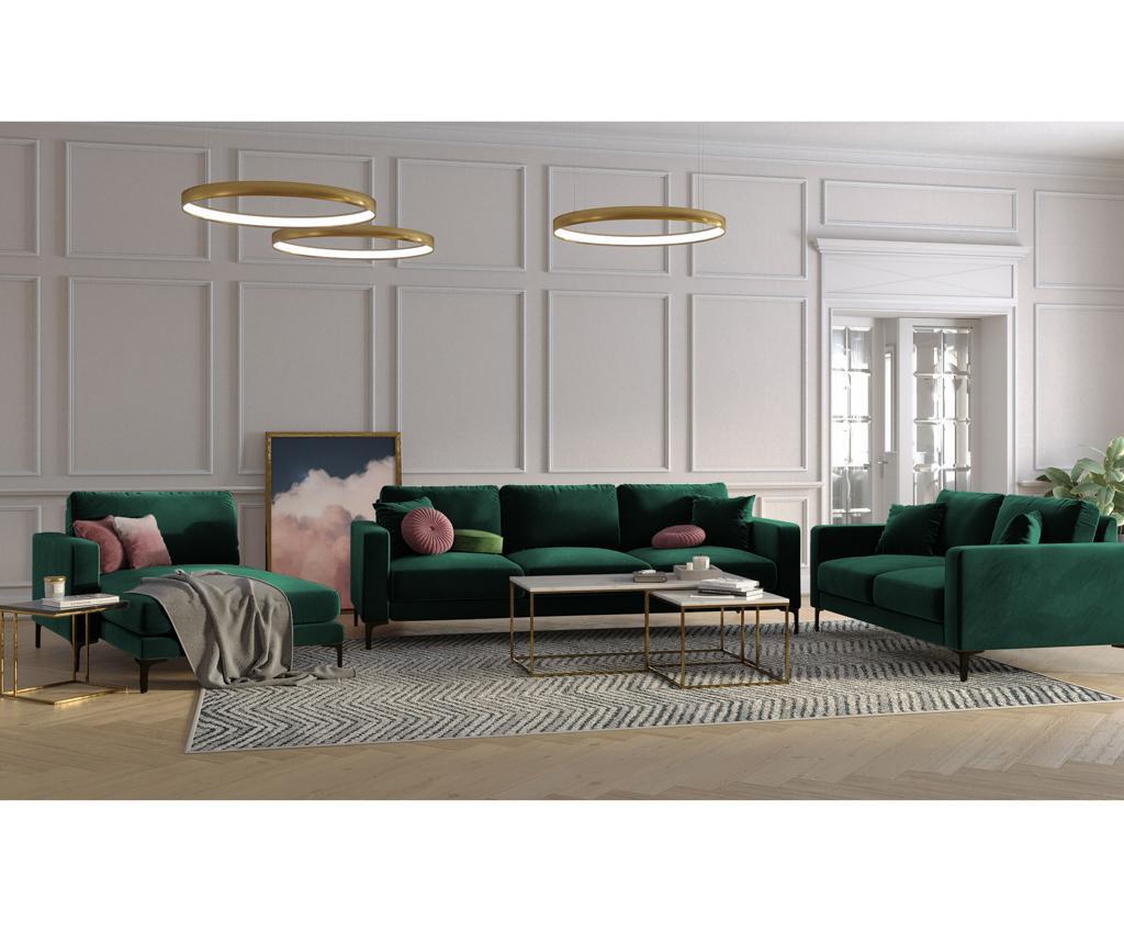 Desna kutna sofa četvorosjed Harmony Bottle Green
