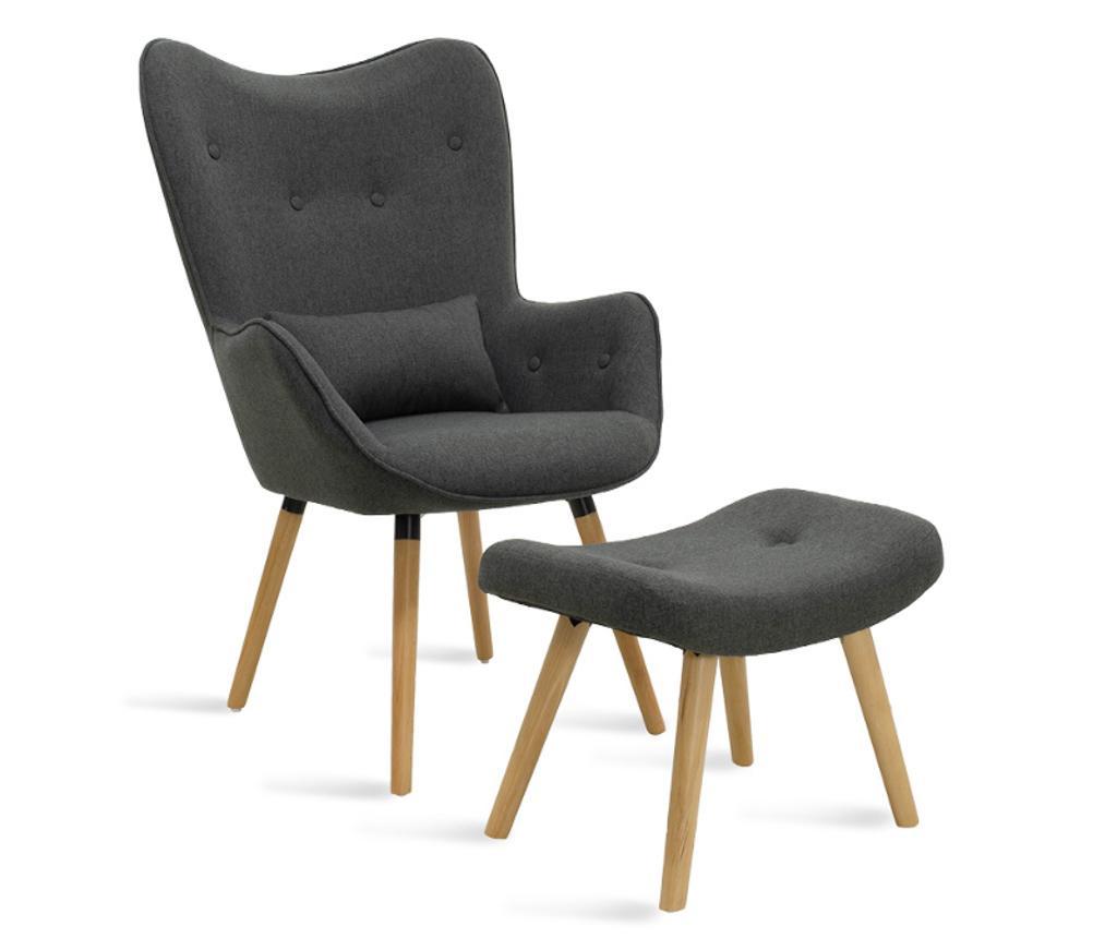 Set fotelja i stolčić za noge