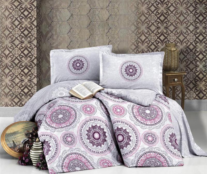 Set posteljina King Ranforce Manila Lilac