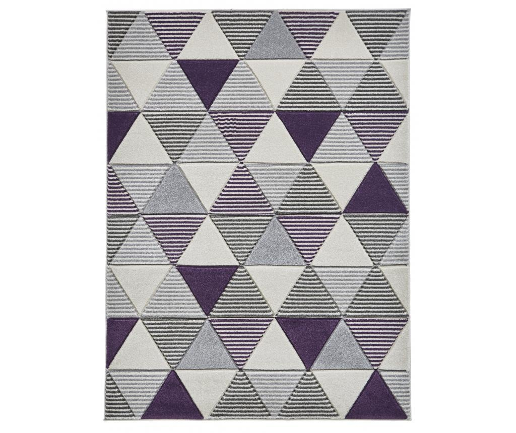 Matrix Grey Purple Szőnyeg 160x220 cm