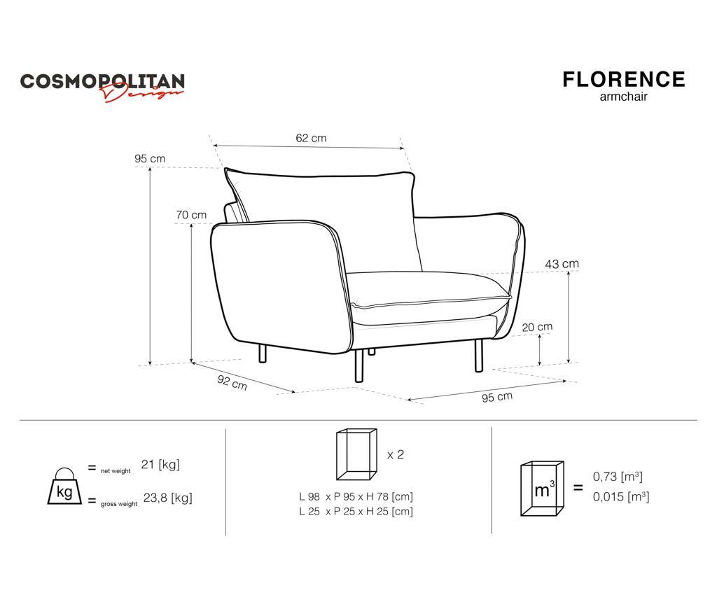 Fotelja Florence Grey