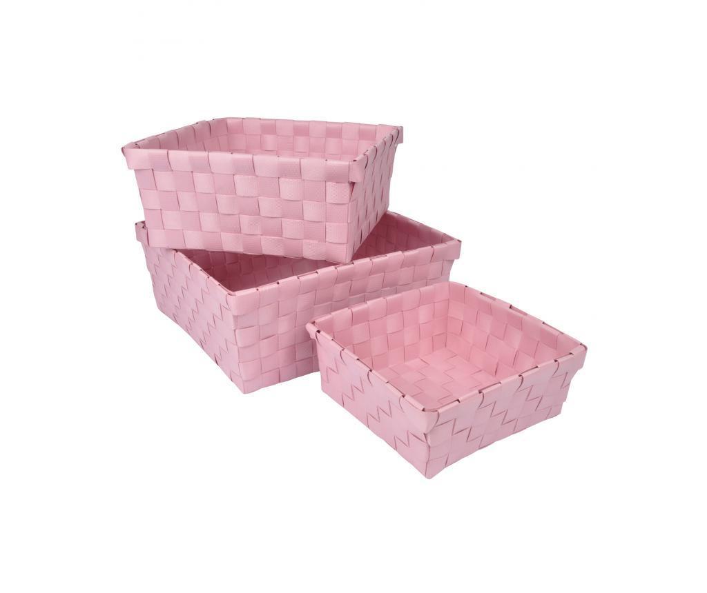 Set 3 košar Vitamine Powdered Pink