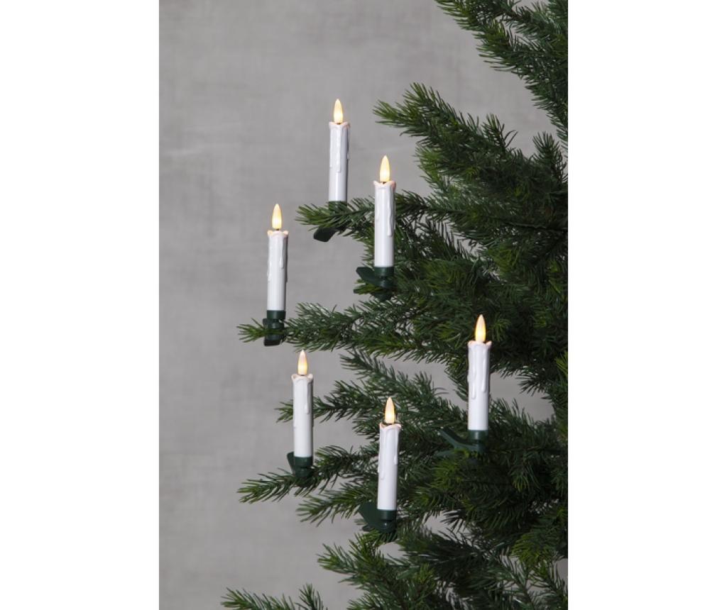 Set 10 lučk v obliki sveče za drevesce Flamme