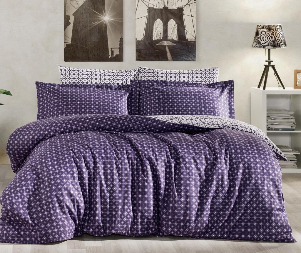 Set posteljina King Ranforce Camicia Blue