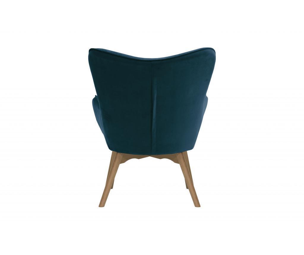 Set - fotelj in pručka za noge Ducon Light Velluto Blue