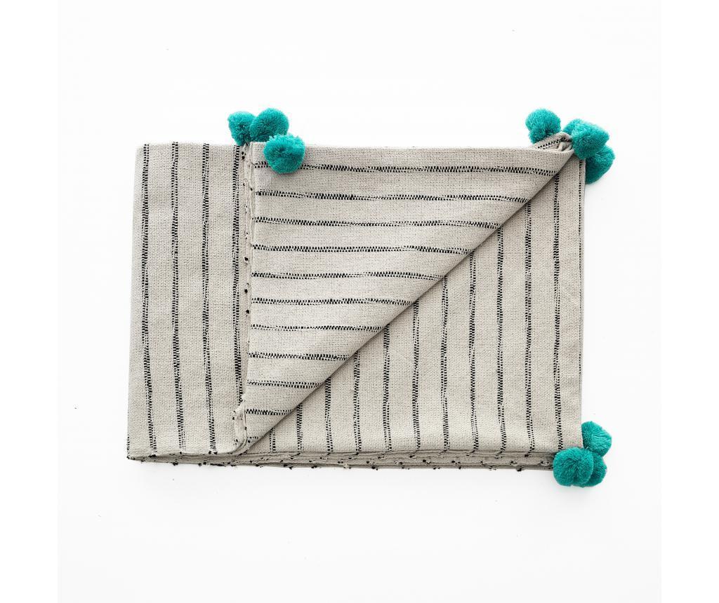 Odeja Stripe-A Turquoise