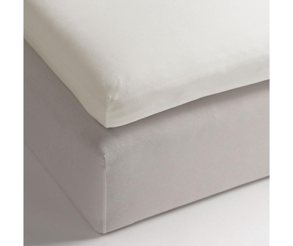 Plahta sa elastičnom gumicom za nadmadrac Jersey White 90x210/220+12 cm