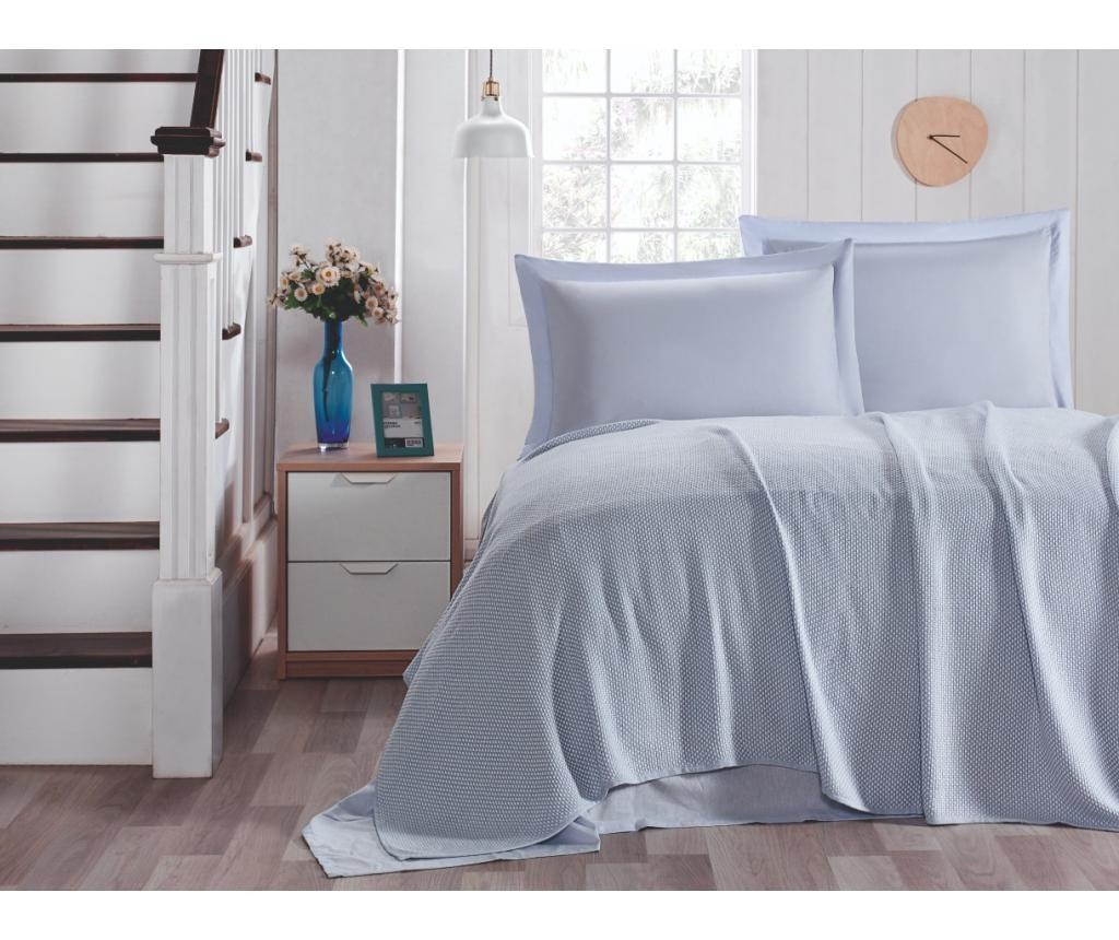 Set s posteljnim pregrinjalom King Blue
