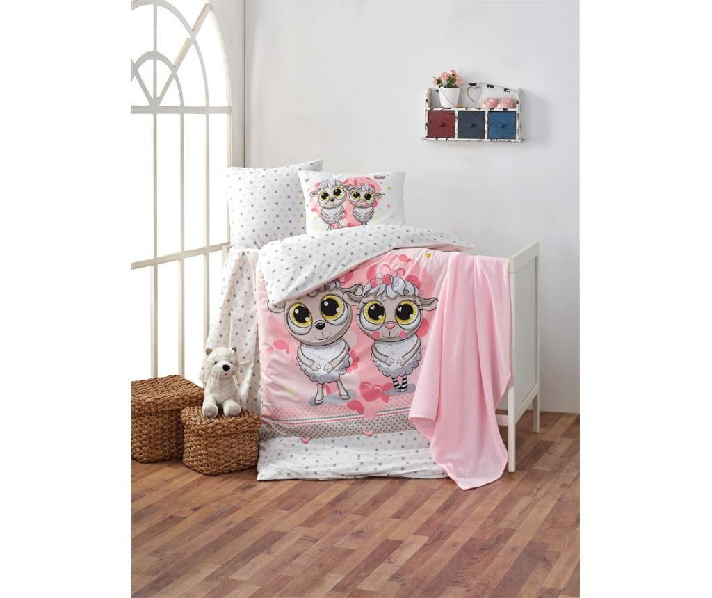 Posteljina za krevetić Happy Lambs Pink
