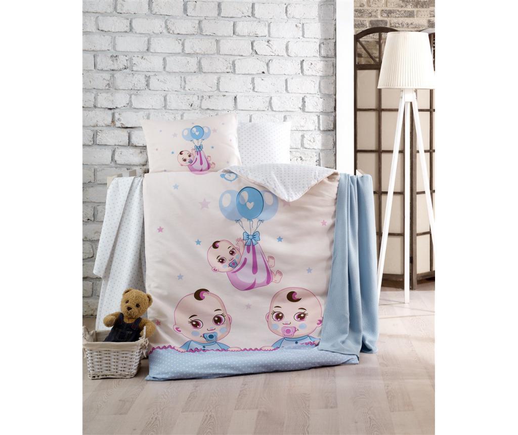 Posteljnina za otroško posteljico Babies Blue