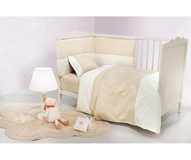 Set posteljina za krevetić Heaven Natural