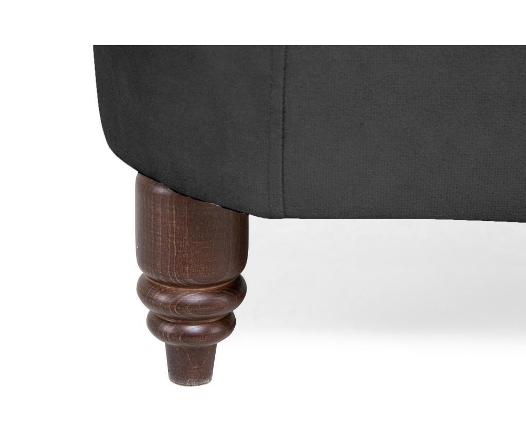 Kauč dvosjed Chesterfield Grey Velvet