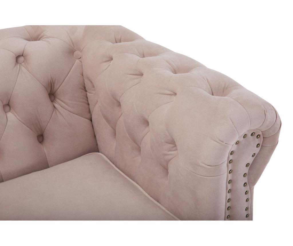 4 miestna pohovka Chesterfield Light Pink Jasmine Velvet