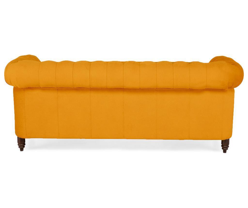 Sofa trosjed Chesterfield Yellow Velvet