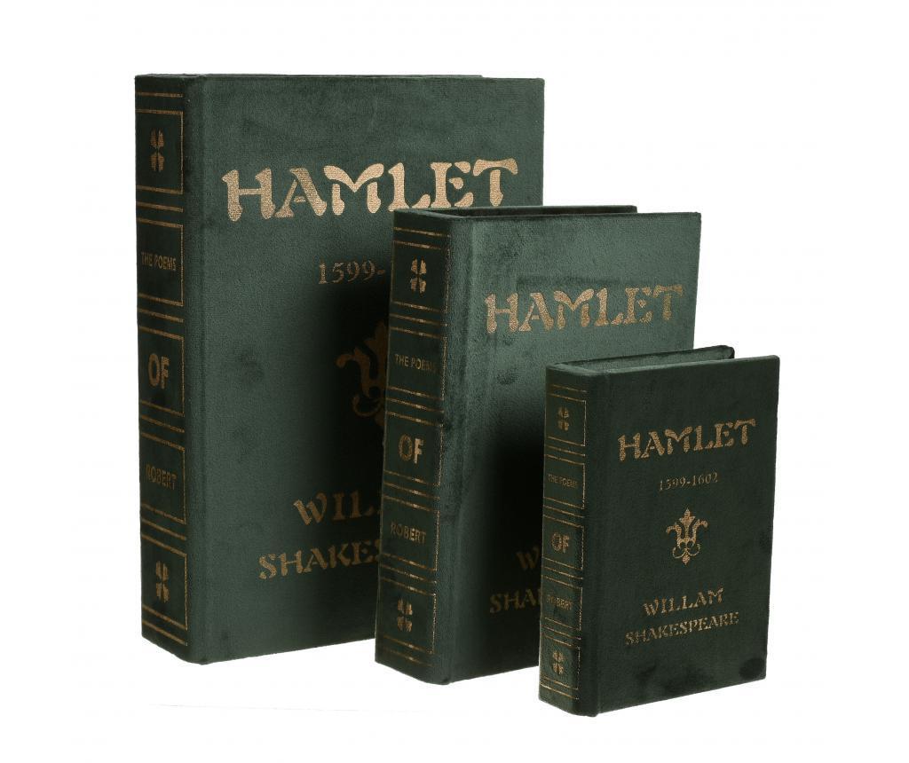 Set 3 cutii tip carte Hamlet
