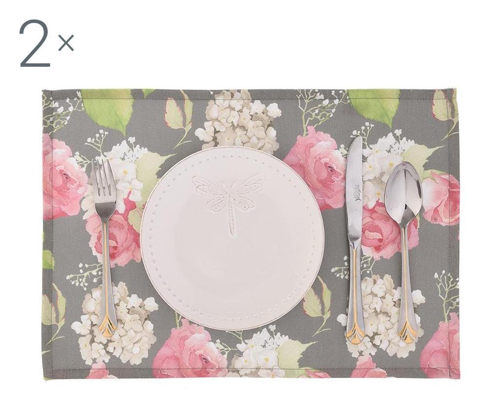Flowery Dark 2 db Tányéralátét 33x45 cm