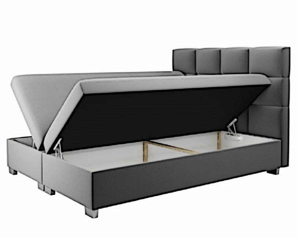 Kanada  Cappuccino Boxspring ágy tárolóhellyel 160x200 cm
