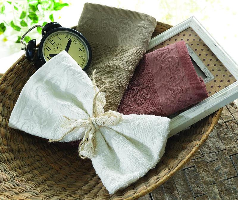 Set 3 kuhinjskih brisač Isabella White Beige Brown