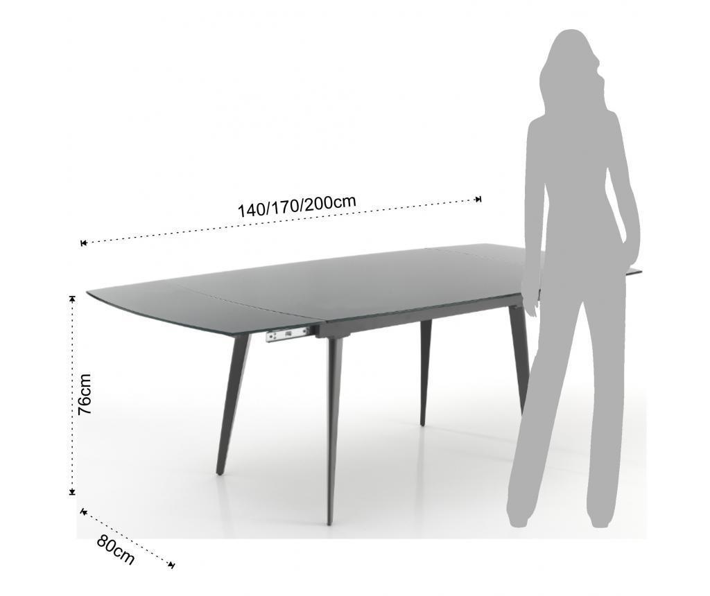 Mono Gray Kihúzható asztal 140 cm