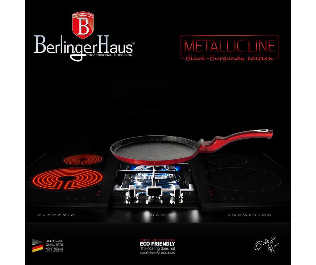 Ponev za palačinke Metallic Line Black Burgundy Edition 25 cm
