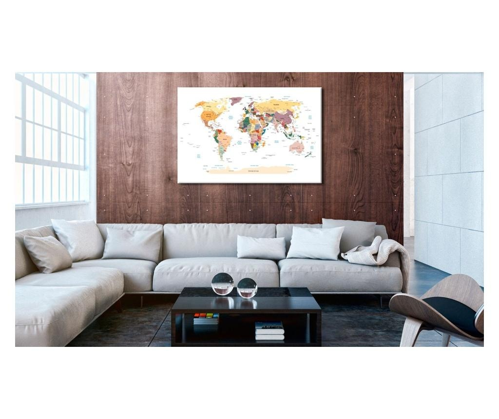 World Map Kép 40x60 cm