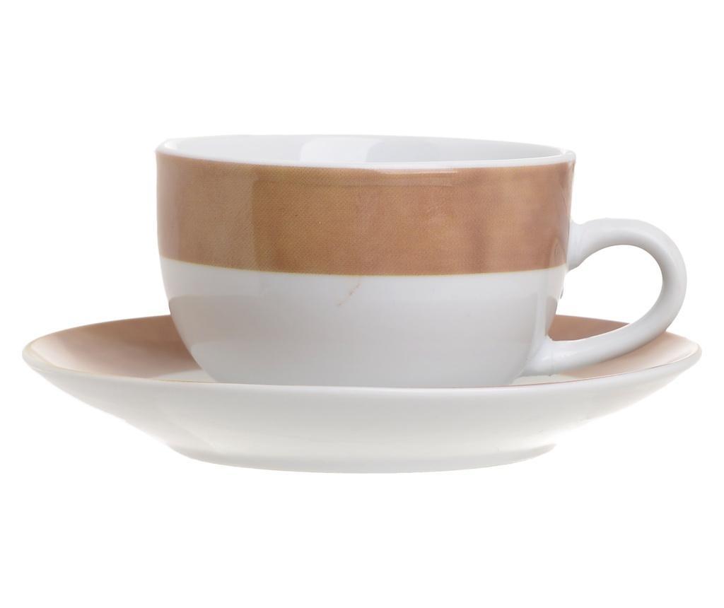 Tea Brown 6 db Csésze kistányérral