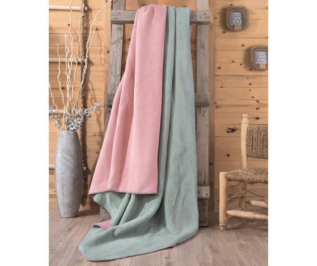 Patura Abbi Powder Pink and Mint 200x220 cm