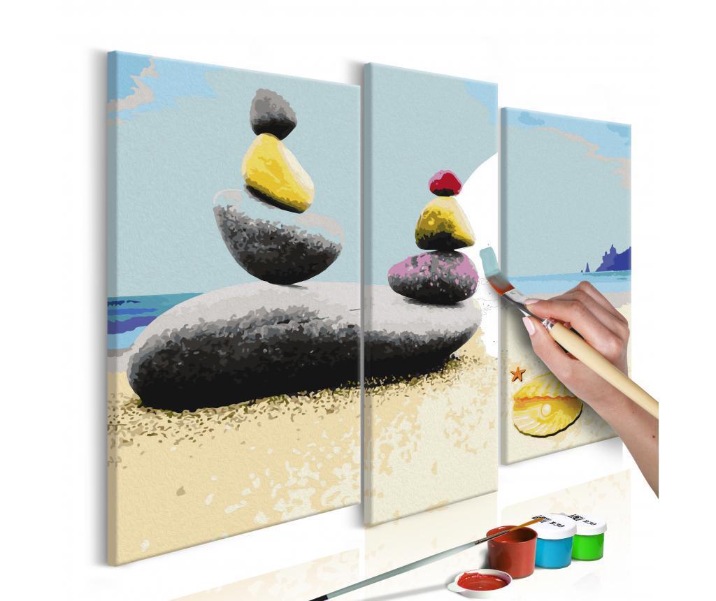 Set 3 tablouri DIY dupa numere Summer Beach
