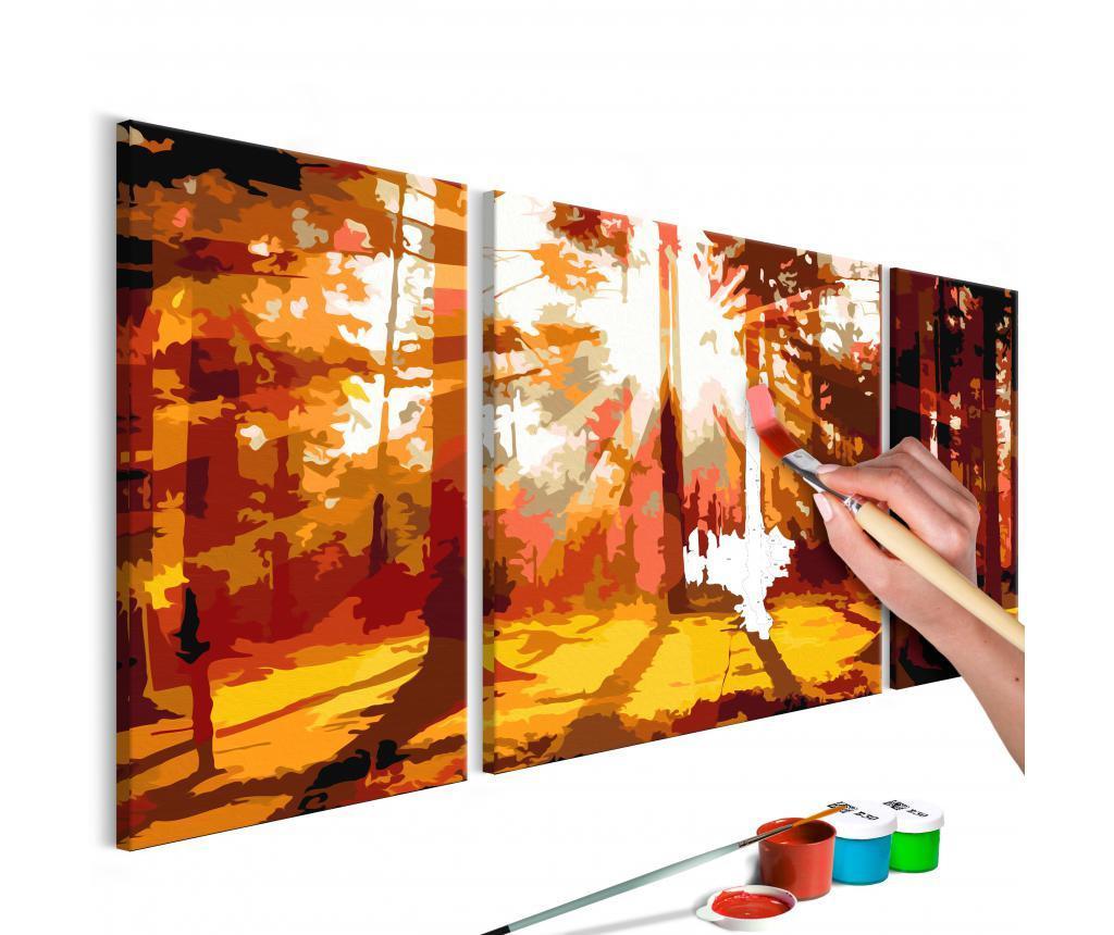 Set 3 tablouri DIY dupa numere Forest (Autumn)