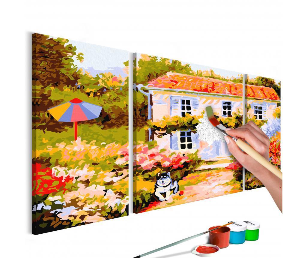 Set 3 tablouri DIY dupa numere Country House