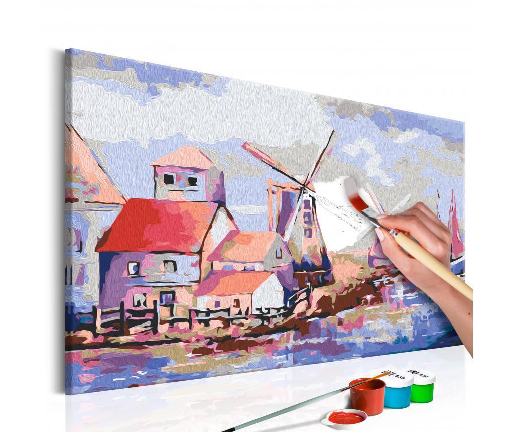 Windmills (Landscape) DIY kanavász kép 40x60 cm