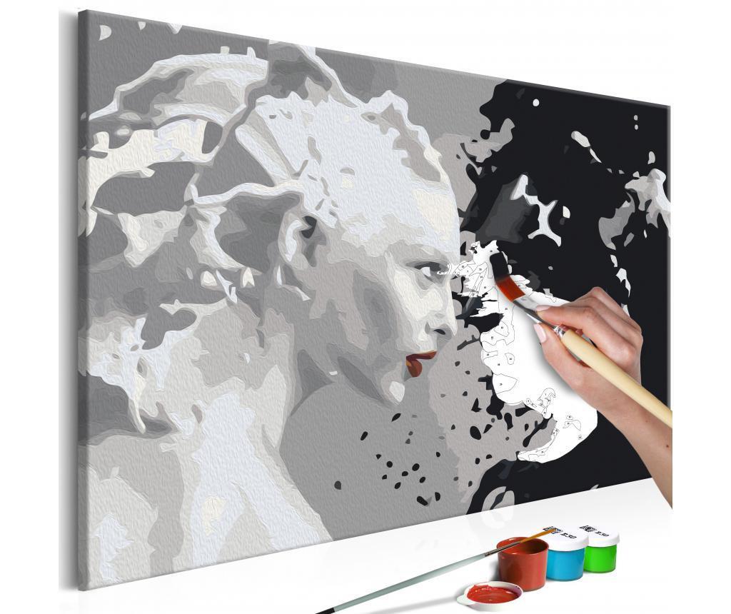 Black & White DIY kanavász kép 40x60 cm