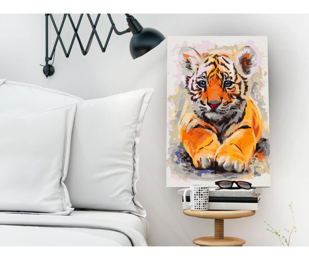 Baby Tiger DIY kanavász kép 40x60 cm