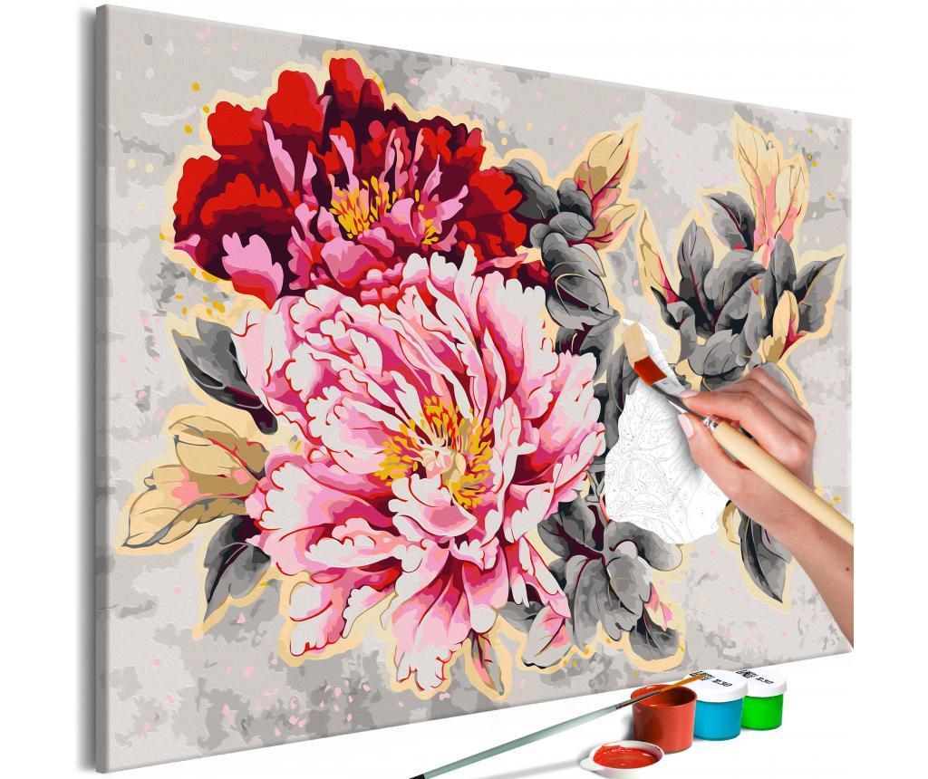 Beautiful Peonies DIY kanavász kép 80x120 cm