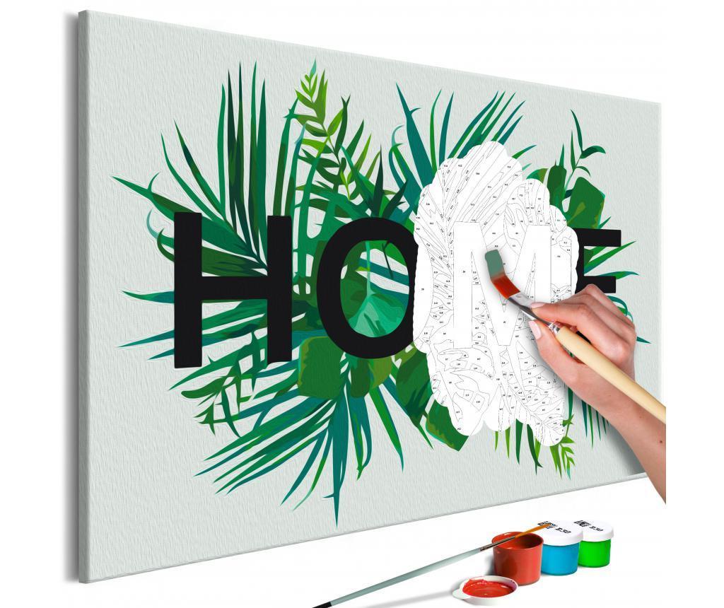 Home on the Leaves DIY kanavász kép 40x60 cm