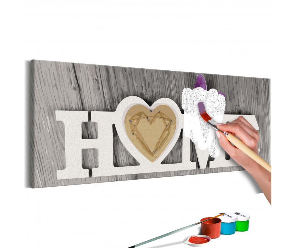 Home and Butterfly DIY kanavász kép 30x90 cm