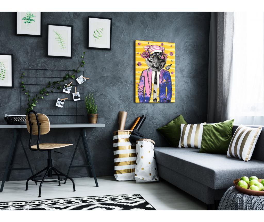 Tiger in Hat DIY kanavász kép 40x60 cm