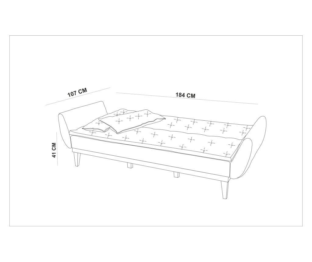 Dark Blue Kihúzható háromszemélyes kanapé
