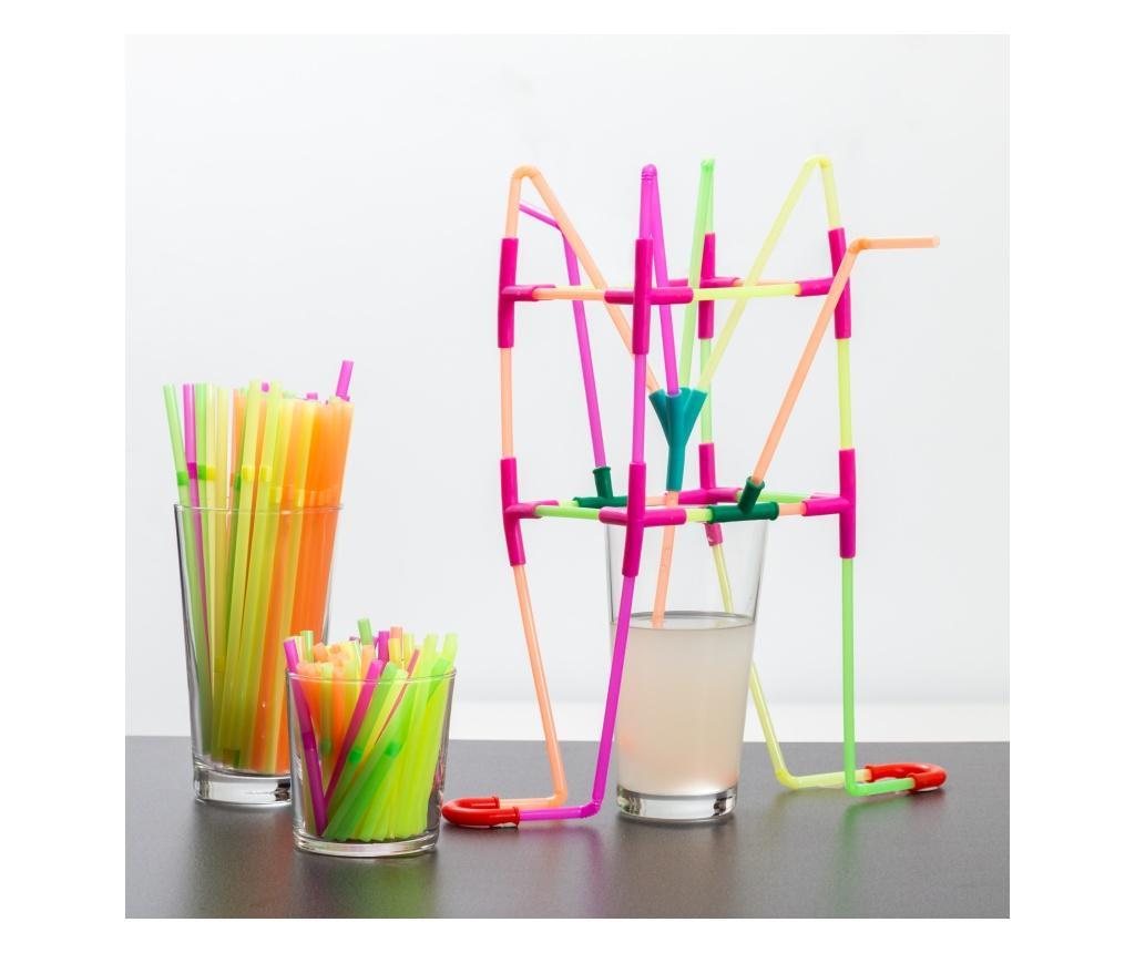 Строителна игра 194 части Playz Kidz Drinking Straws