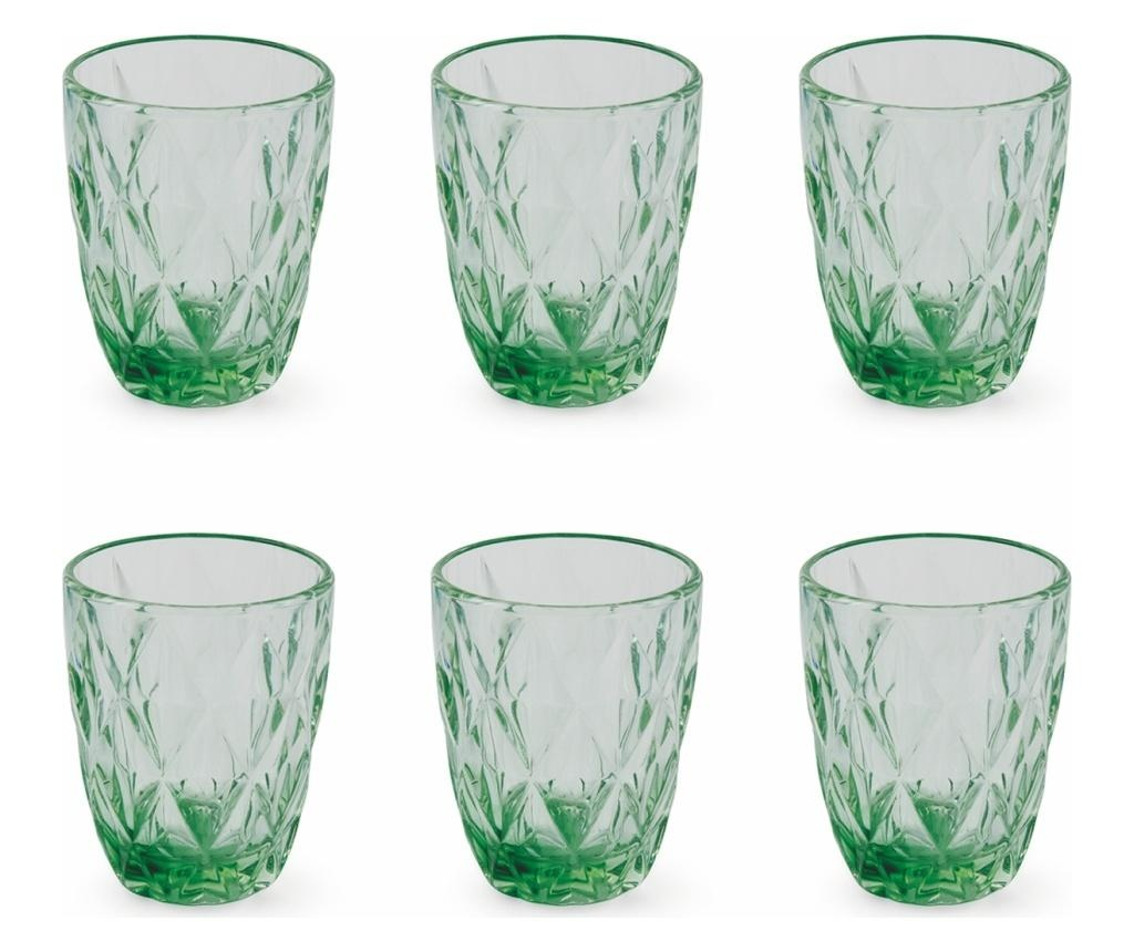 Set 6 čaša za vodu Quarzo Green 272 ml
