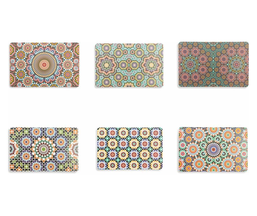 Set 6 suporturi pentru farfurii Marrakech 28x43 cm