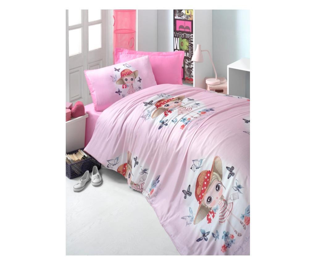 Set de pat Single Ranforce Pink Girl