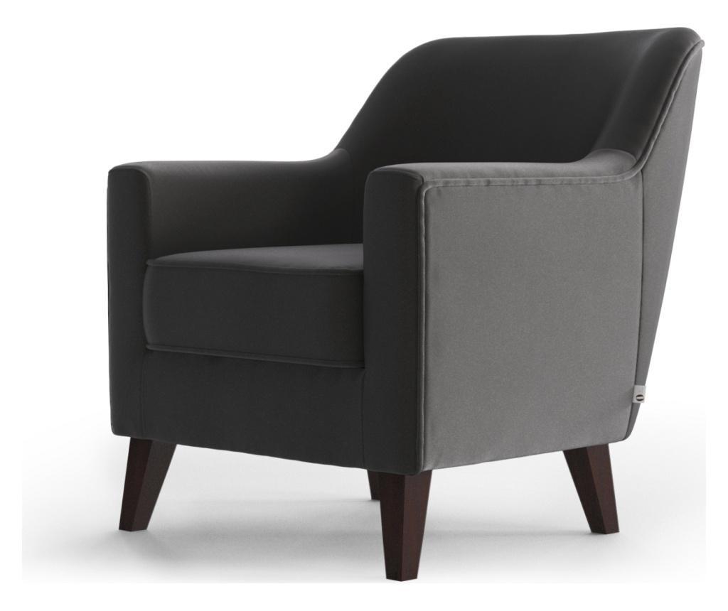 Brochant Uni Grey & Silver Fotel