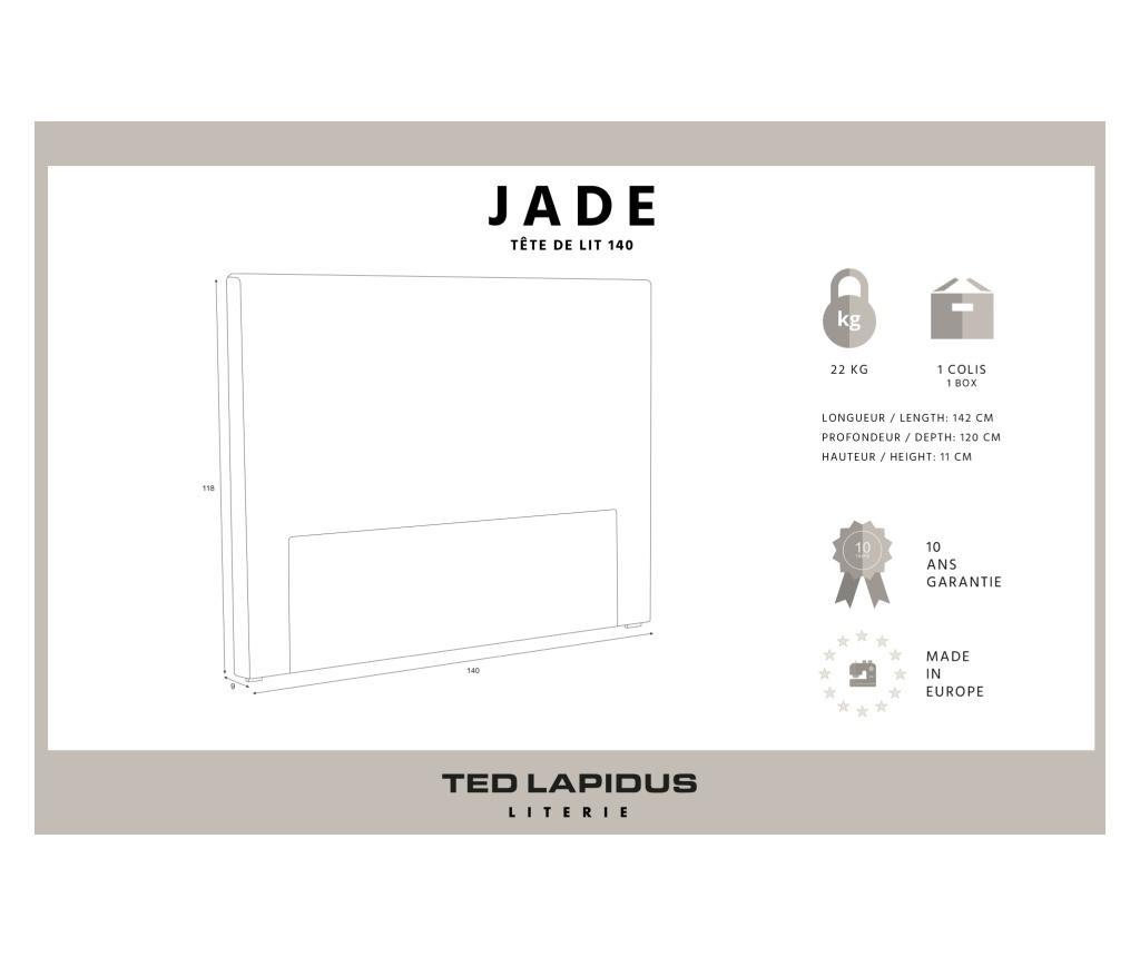 Tablie de pat Jade Light Grey 140x118 cm