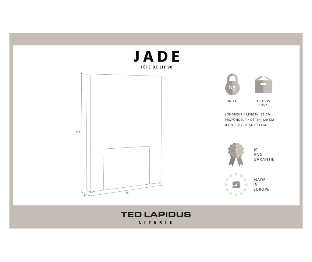 Tablie de pat Jade Anthracite 90x118 cm